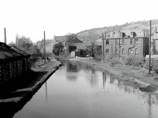 33. Robertsons shops.  Clydach old toll house.  Saw Mills was by tall pole on left.
