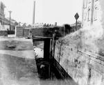 18.Clydach Lock which was operated by a pully because the bridge was too narrow.  It was widened as horses couldn't get under so the pully was put in.  The lock was used to repair barges.