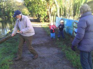 Removing fallen tree, Coed Gwilym Park