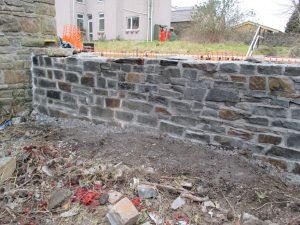 Wall at Clydach Lock