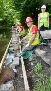 WASH HOLE REPAIRS FOR FLOOD DEFENCE. DAY THREE