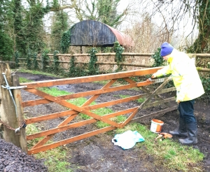 GATE BEING TREATED