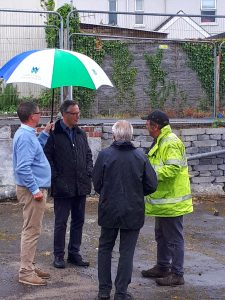 Richard Parry, Ceri John Davies and Nigel Annett at the Clydach Hidden Lock site.